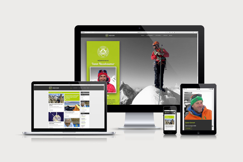Réalisation et création du site web HELYUM 2017 par GRAPHIC STUDIOFUNK