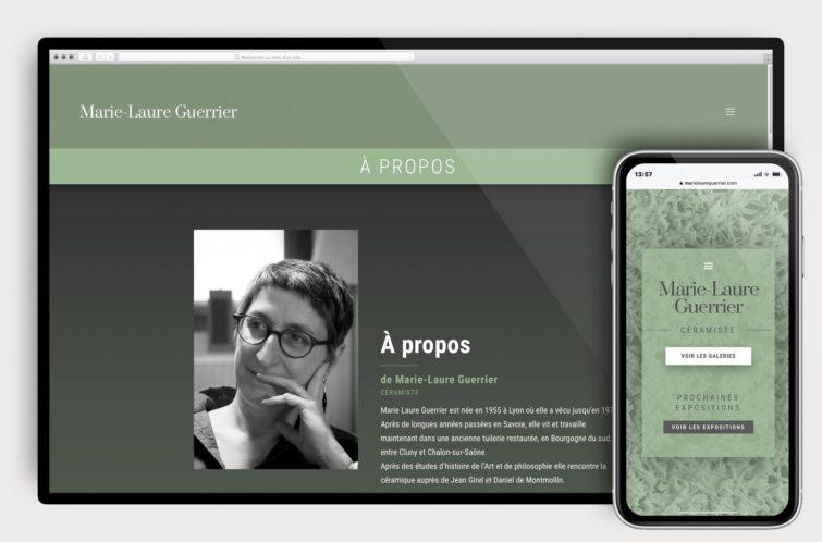 Site web Marie-Laure GUERRIER by GRAPHIC STUDIOFUNK