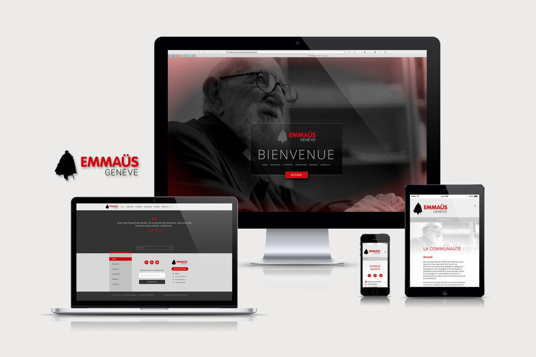 Site web Emmaüs-Genève
